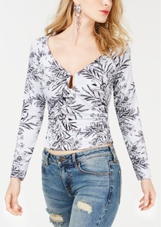 Guess Sydney Printed Notched-Neck Top