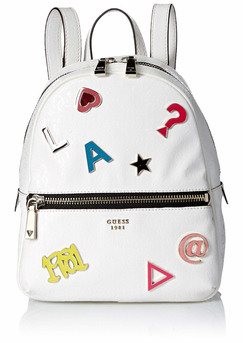 GUESS Tabbi Pins Backpack white