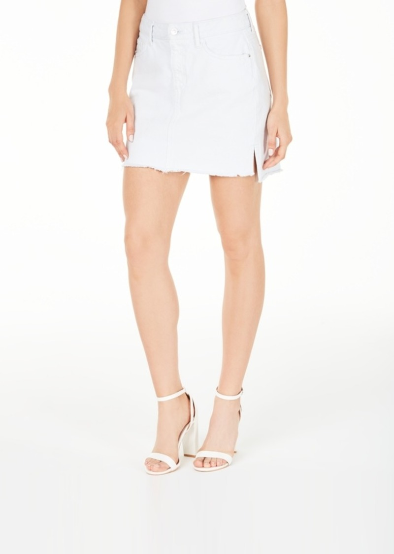 Guess Talia Cotton Raw-Hem Denim Skirt