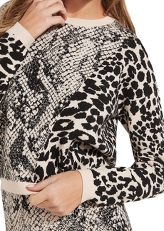 Guess Tamelia Animal-Print Pullover Sweater