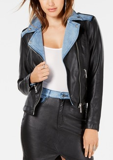 Guess Tarra Rebel Faux-Leather Moto Jacket