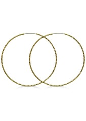 """Guess Textured 3"""" Extra-Large Hoop Earrings"""