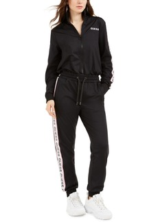 Guess Thea Side-Striped Drawstring-Waist Jumpsuit