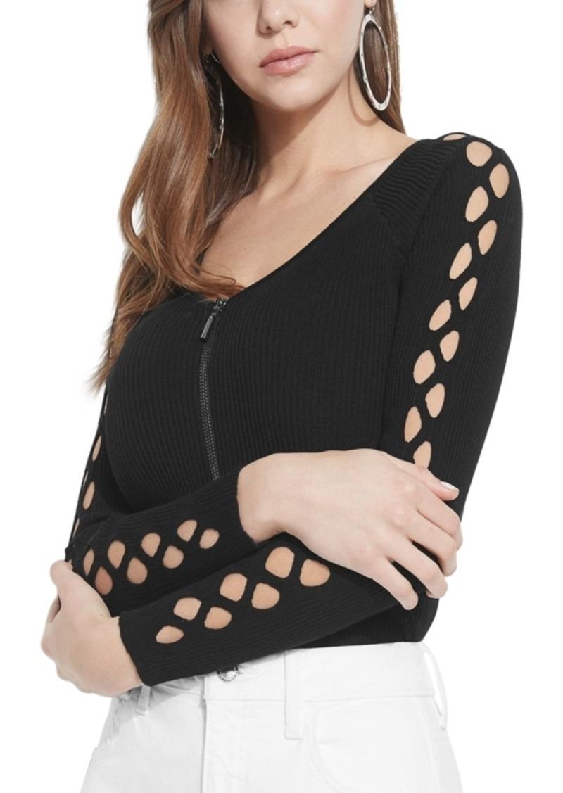 Guess Tinash Ribbed Arm-Cutout Top