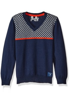 GUESS Boys' Toddler Long Sleeve V Neck Sweater