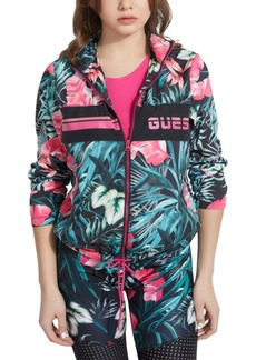 Guess Tropical Floral Windbreaker Jacket