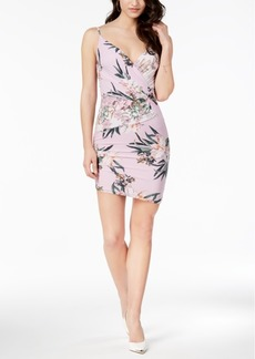 Guess Tropical Iris Ruched Bodycon Dress