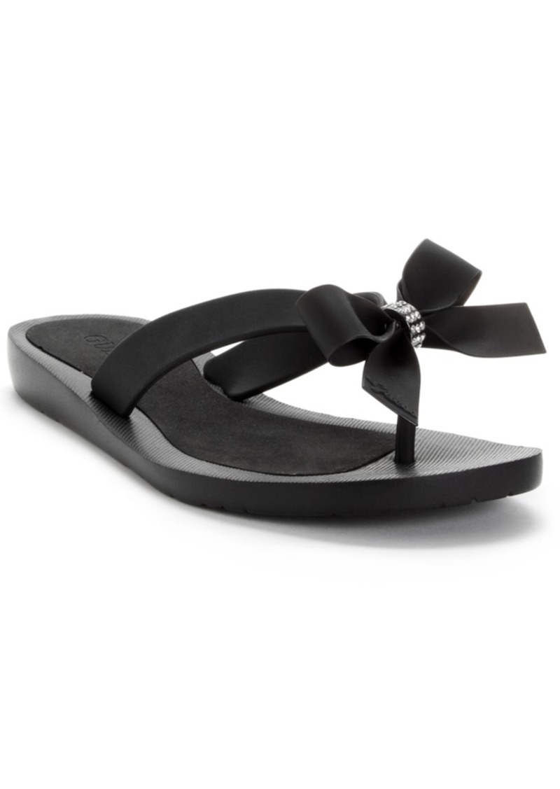a294e66853b463 GUESS Guess Tutu Bow Flip Flops Women s Shoes Now  29.99