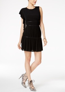 Guess Tyra Asymmetrical-Sleeve Tiered Dress