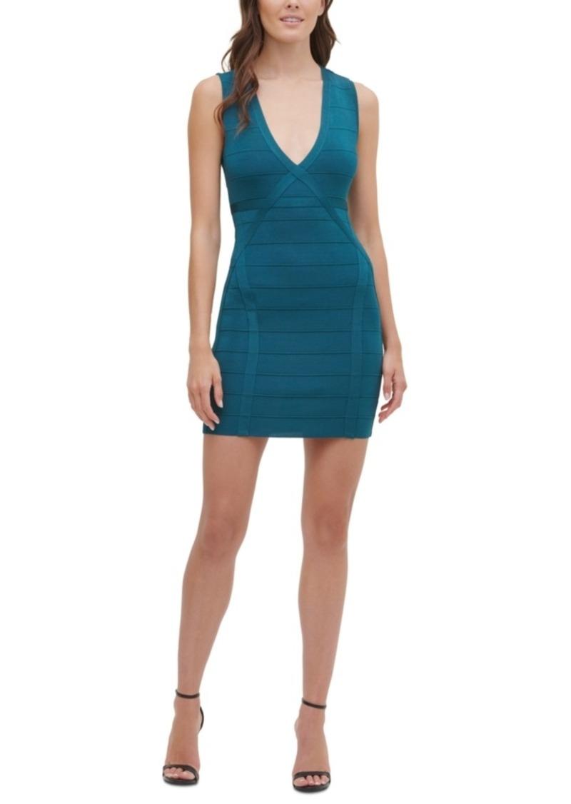 Guess V-Neck Bandage Dress