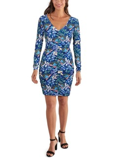 Guess V-Neck Floral Bodycon Dress