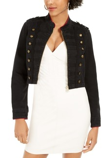 Guess Vassa Button-Accent Cropped Jacket