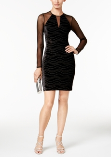 Guess Velvet Illusion Sheath Dress, a Macy's Exclusive Style