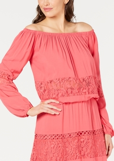 Guess Viola Lace Off-The-Shoulder Top