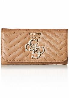 GUESS Violet Slim Clutch Wallet tan