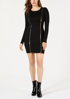 Guess Wess Zipper-Trim Bodycon Dress