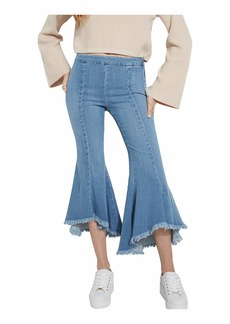GUESS Women's  1981 High Rise Skinny Fit Flare Leg Jean
