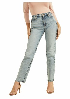 GUESS Women's 1981 High Rise Straight Fit Jean