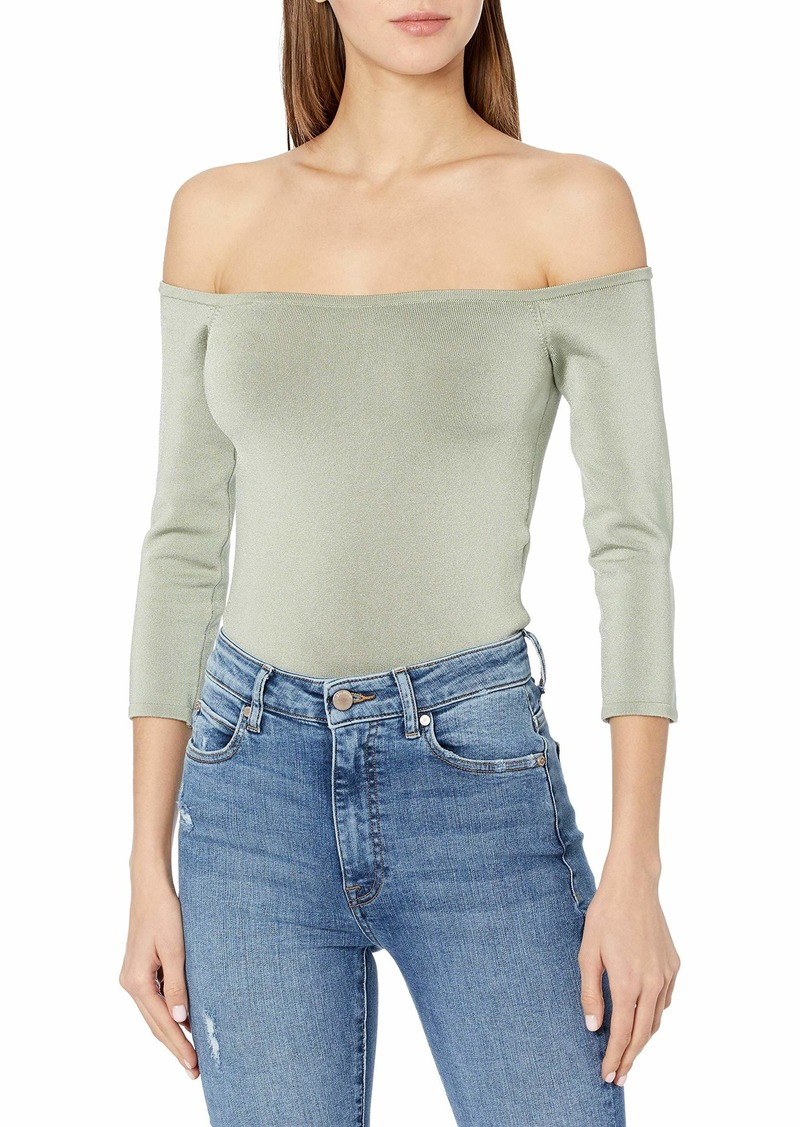 GUESS Women's 3/4 Sleeve Off The Shoulder DITA Top