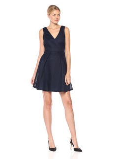 GUESS Women's A-line Bonded Mesh Dress