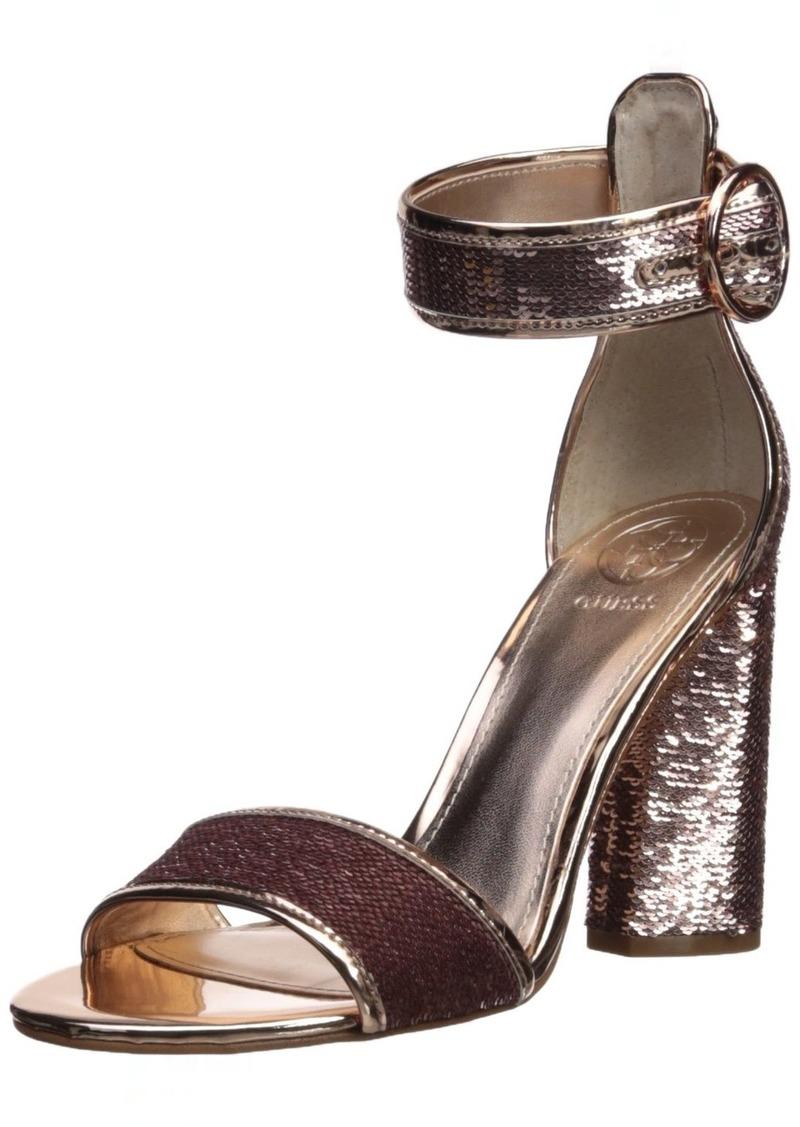 Guess Women's ABHA2 Heeled Sandal   Medium US
