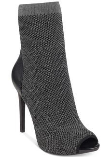 Guess Women's Abri Peep-toe Sock Booties Women's Shoes