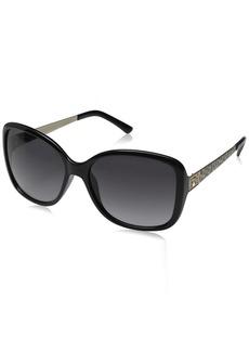 GUESS Women's Acetate Oversized Square Sunglasses BLK-35 58 mm
