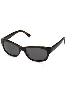 GUESS Women's Acetate Rectangle Rectangular Sunglasses 01A 54 mm