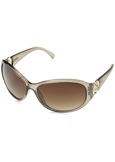 GUESS Women's Acetate Rectangle Shield Sunglasses CGRY-34 65 mm