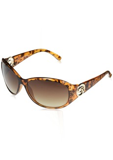 GUESS Women's Acetate Rectangle Shield Sunglasses TO-34