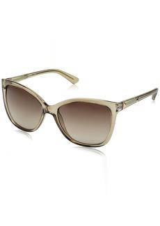GUESS Women's Acetate Square/cat-Eye Cateye Sunglasses 57F 58 mm