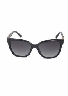 GUESS Women's Acetate Square/ Soft Cat-eye GU7385 Square Sunglasses 01B 56 mm