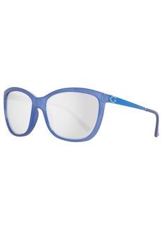 GUESS Women's Acetate Square/Soft Cat-Eye Sunglasses 84C 58 mm