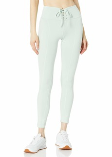GUESS Women's Active Full Length Leggings with Lace-Up Detail