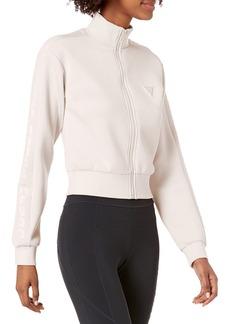 GUESS Women's Active Long Sleeve Zip Front Sweatshirt