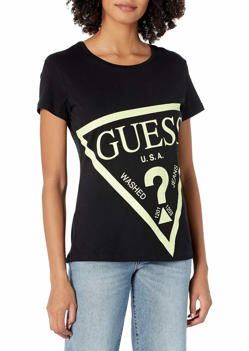 GUESS Women's Active Short Sleeve Oversized Logo T-Shirt  Extra Small