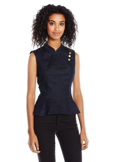 GUESS Women's Addie Peplum Top  M