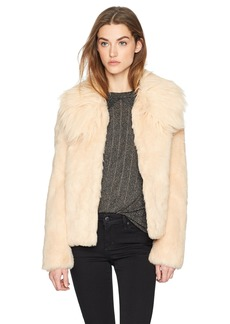 GUESS Women's Agata Faux Fur Coat  M