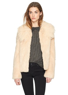 GUESS Women's Agata Faux Fur Coat  S
