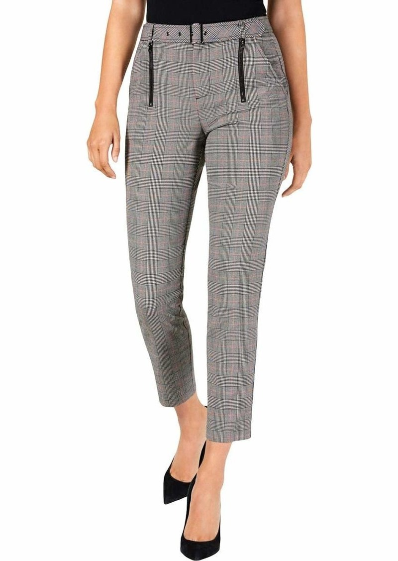 Guess Women's Alexa Plaid Trousers