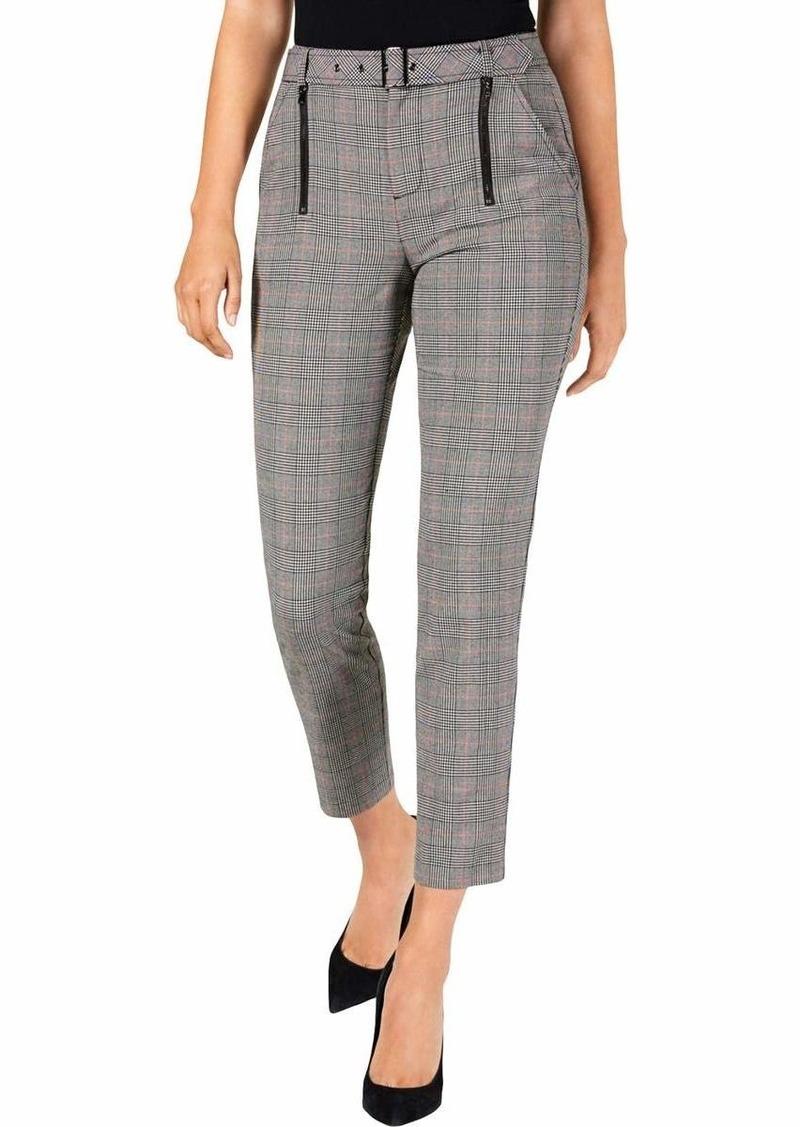 Guess Women's Alexa Plaid Trousers