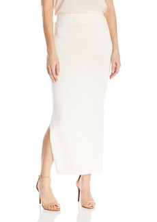 Guess Women's Arlete Double Slit Midi Skirt  XL R