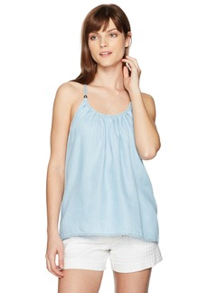 GUESS Women's Babydoll Top Super Bleached wash XS