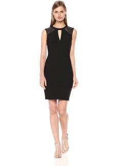 GUESS Women's Bandage Cocktail Dress Shoulder Detail
