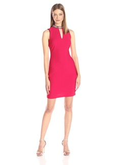 GUESS Women's Bandage Dress with Collar Detail