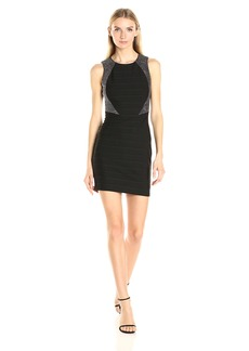 GUESS Women's Bandage Dress with Rhinestone Detail
