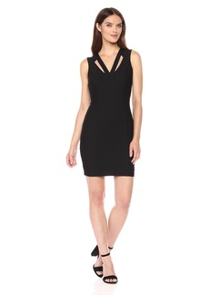 GUESS Women's Bandage Knit Dress with Cutout Neckline
