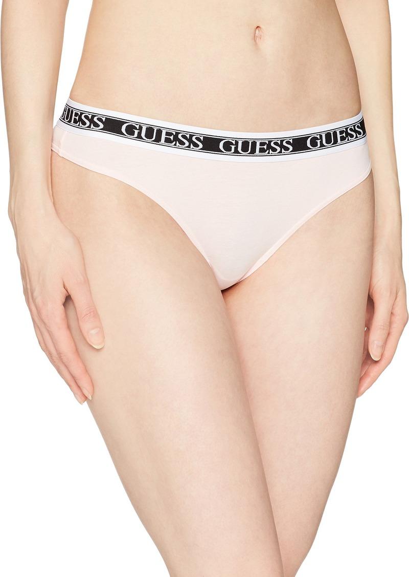 GUESS Women's Banded Logo Thong  L