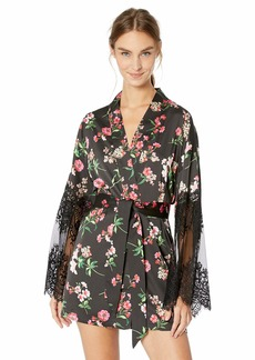 GUESS Women's Bell Sleeve Floral Kimono  S