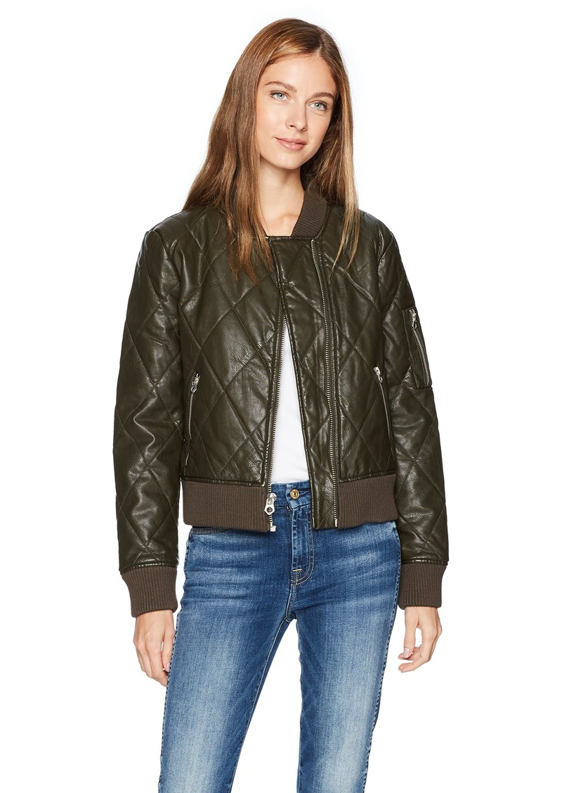 Guess Guess Womens Bella Quilted Bomber Jacket Outerwear